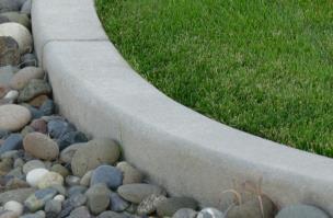 Block Style Rocks Grass