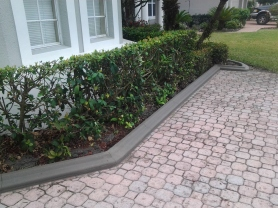 Curb on Paver